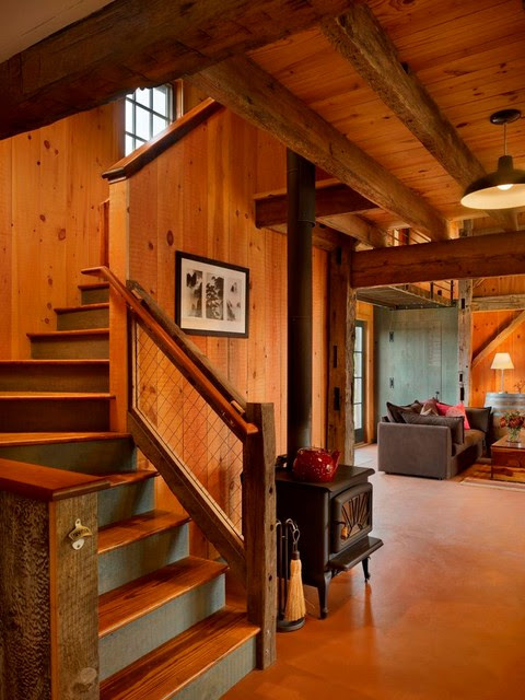 20 Uplifting Rustic Staircase Designs That You Cant Dislike 10