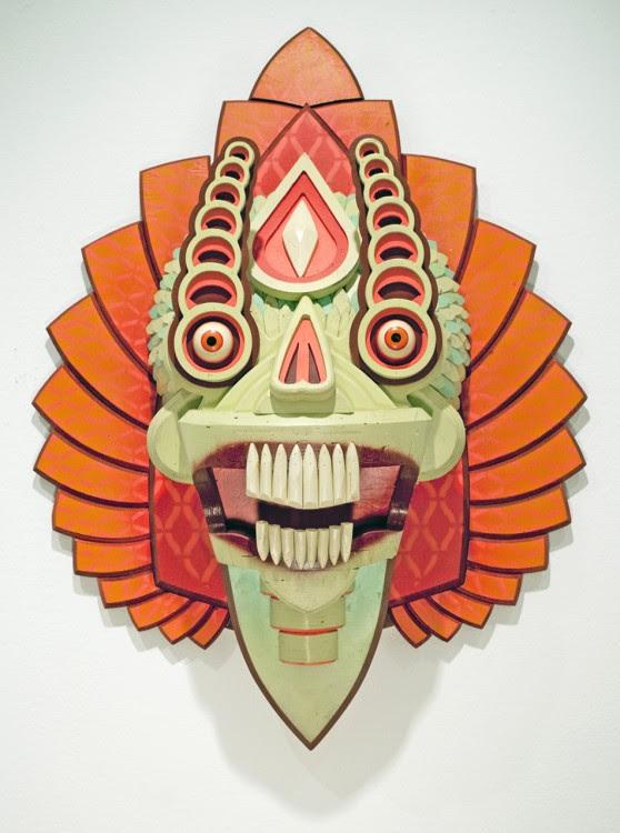 masque aj fossik 03 558x750 Les monstres en relief dAJ Fosik  art