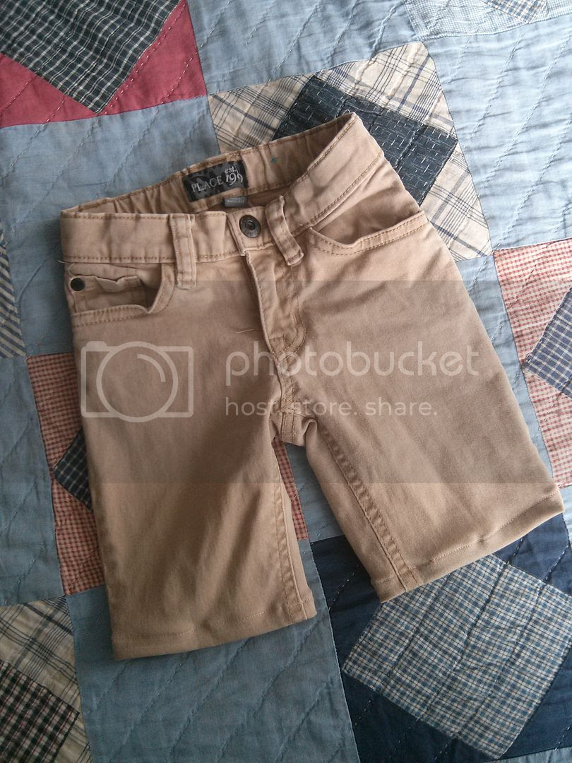 DIY pants into shorts