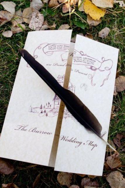 stilvolle wedidng Einladung inspiriert von der Marauder ' s Map