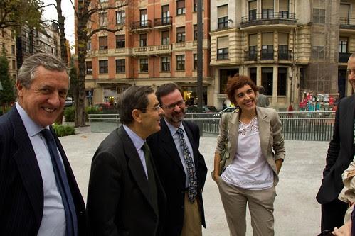 Con Juan Sáenz de Buruaga (BBK), Mario Fernández (BBK), Iñaki Murua e Ibone Bengoetxea
