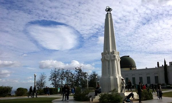 A fascinating cloud formation as seen from Griffith Observatory...on January 21, 2017.