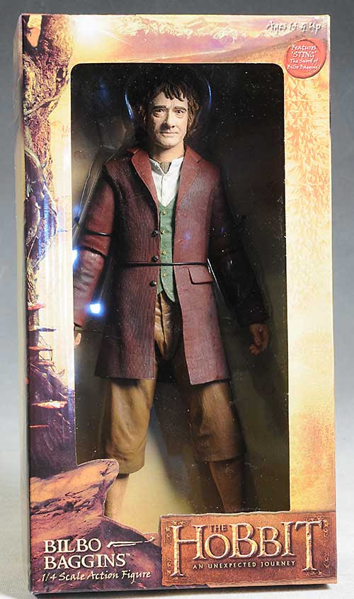 Review And Photos Of Bilbo Hobbit 1 4 Scale Action Figure By Neca