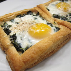 Eggs and Kale in Puffed Pastry