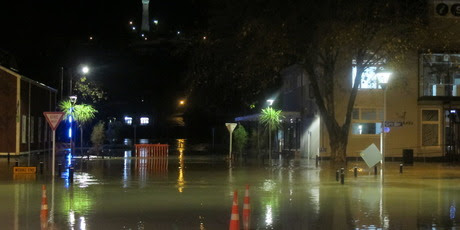 Last night's flooding in Wanganui was the worst on record. PHOTO/ ZARYD WILSON