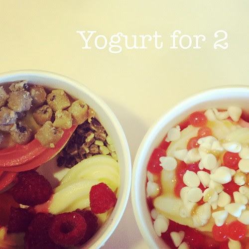 Ryan and I got yogurt last night. #bestbitofyourweekend #photoadayjune