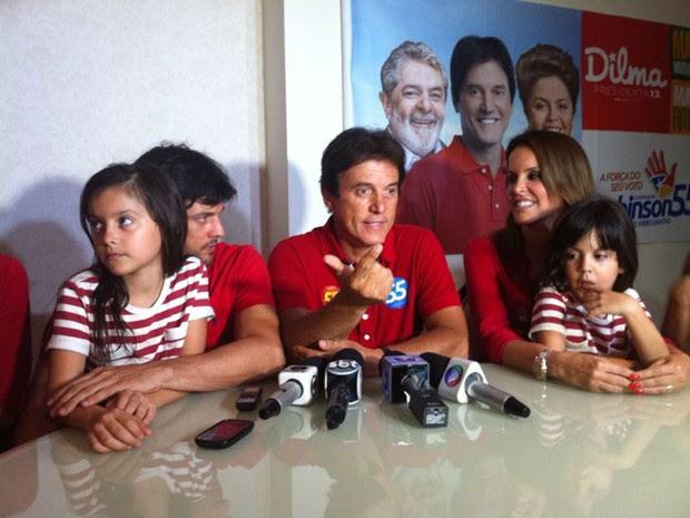 Robinson Faria disputará o segundo turno para o governo do RN com Henrique Eduardo Alves (Foto: Felipe Gibson/G1)