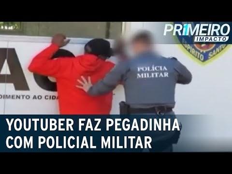 Youtuber faz pegadinha com policial militar e é enquadrado