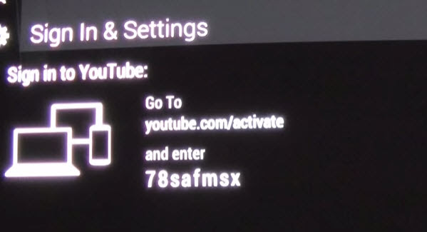 youtube activate tv