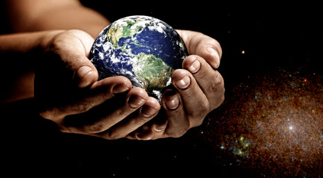 The Earth and us are all in God's loving hands