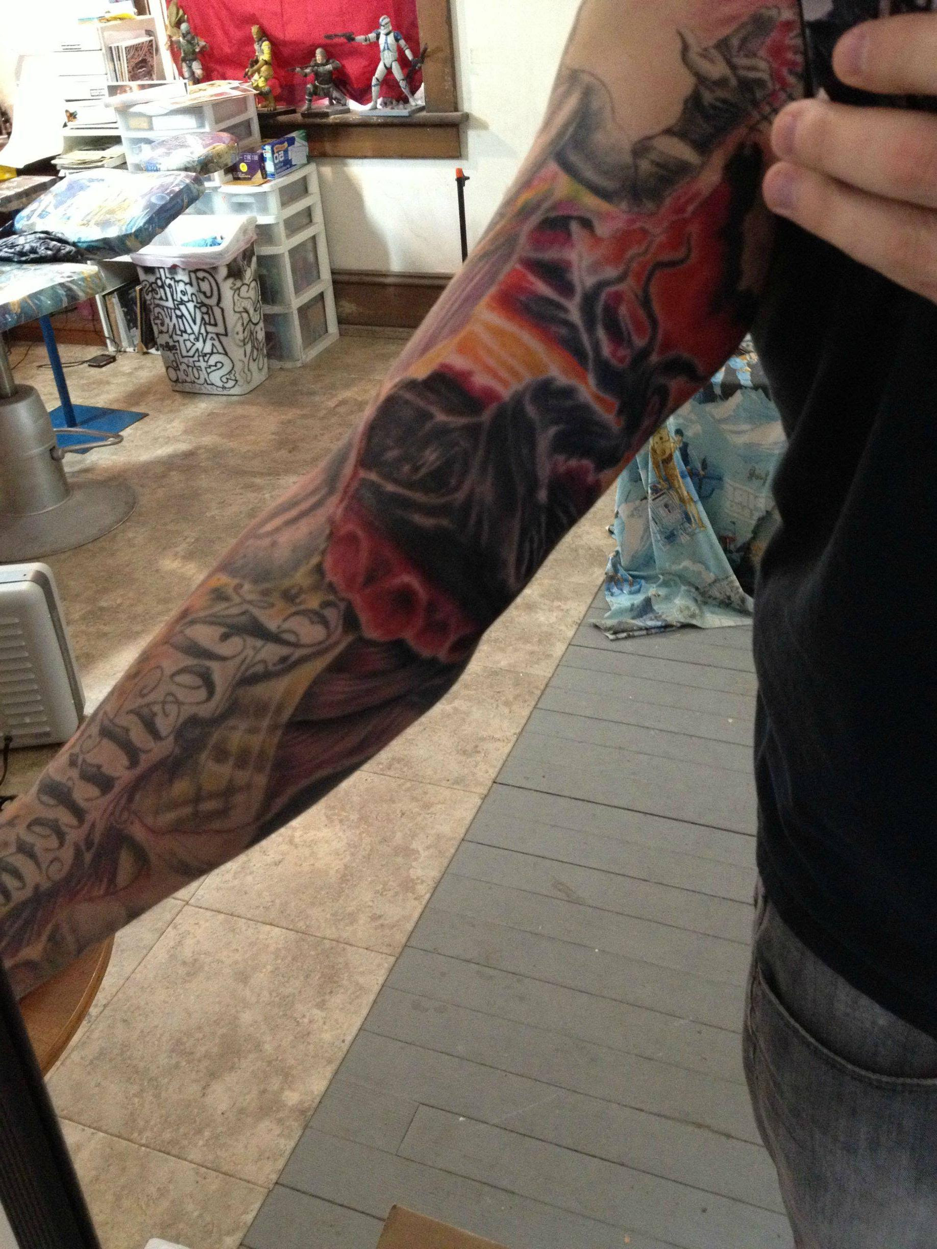 Hell Sleeve Concept Almost Completed Heaven Arm Still In Progress
