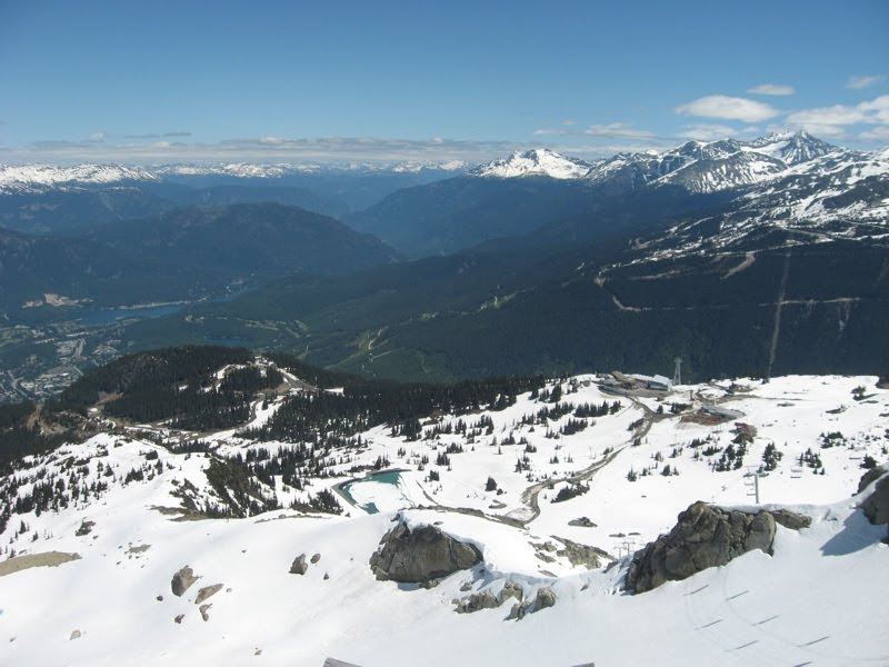 view over Whistler valley