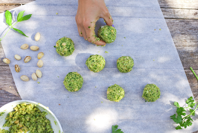 Green Kitchen Stories » Herb & Pistachio Falafel