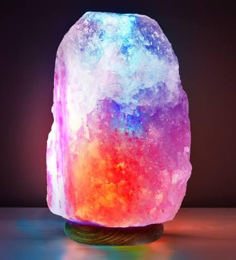 Himalayan Glow Natural Himalayan Salt Colorful Lamp