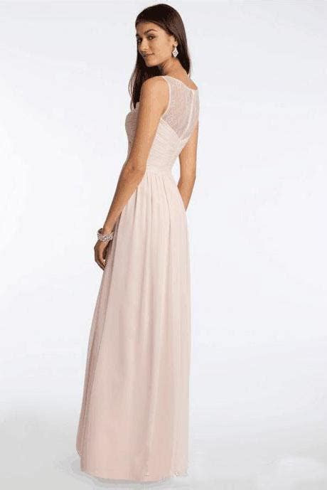 Different Styles Chiffon Blush Pink Floor Length Cheap