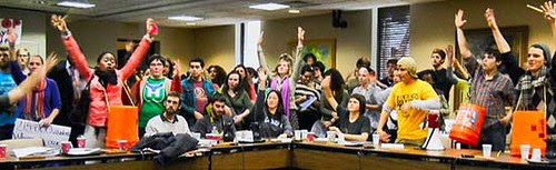 Board meeting in North Carolina to protest tuition increases in higher education. Students are facing the same problem across the United States. by Pan-African News Wire File Photos