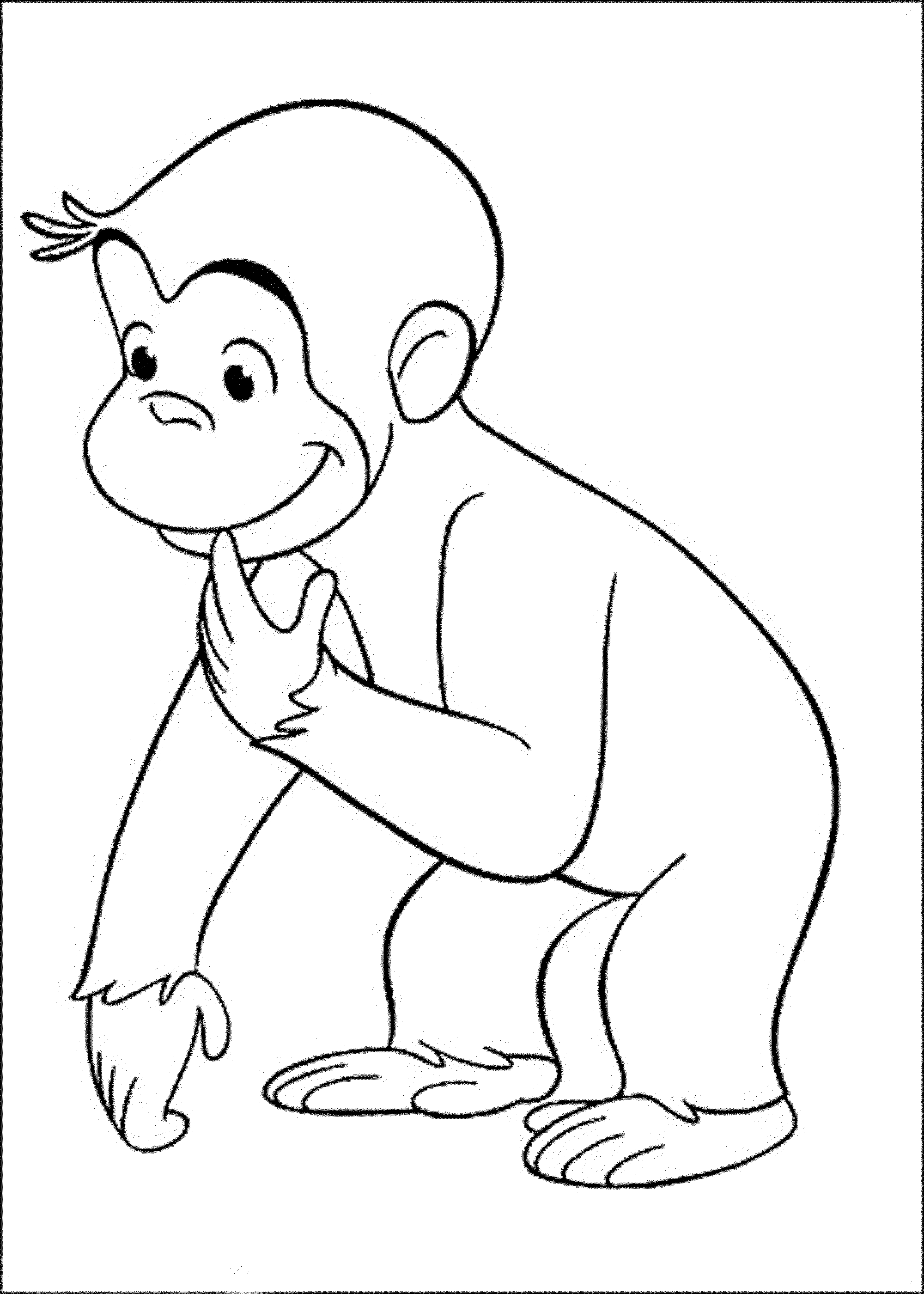 How To Draw Curious George Face Drawing Art Ideas