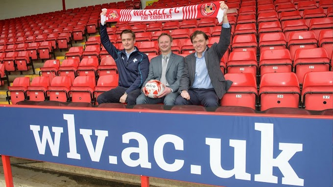 Walsall FC and University of Wolverhampton Agree New Three-Year Deal