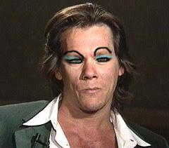 Kevin rocks the blue eye shadow