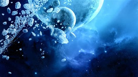 full hd wallpaper ice debris moon planet desktop