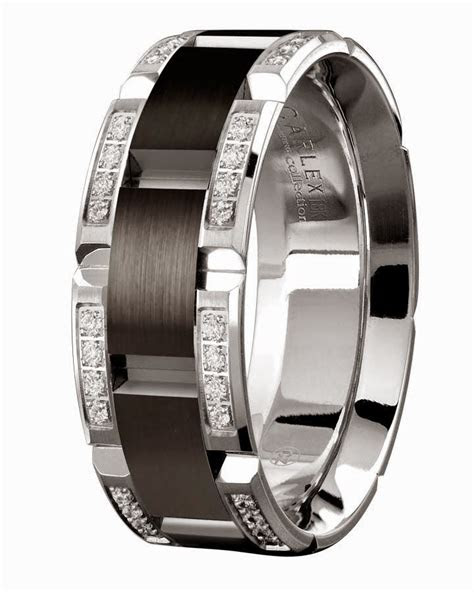 mens diamond black wedding rings tiffany  white gold
