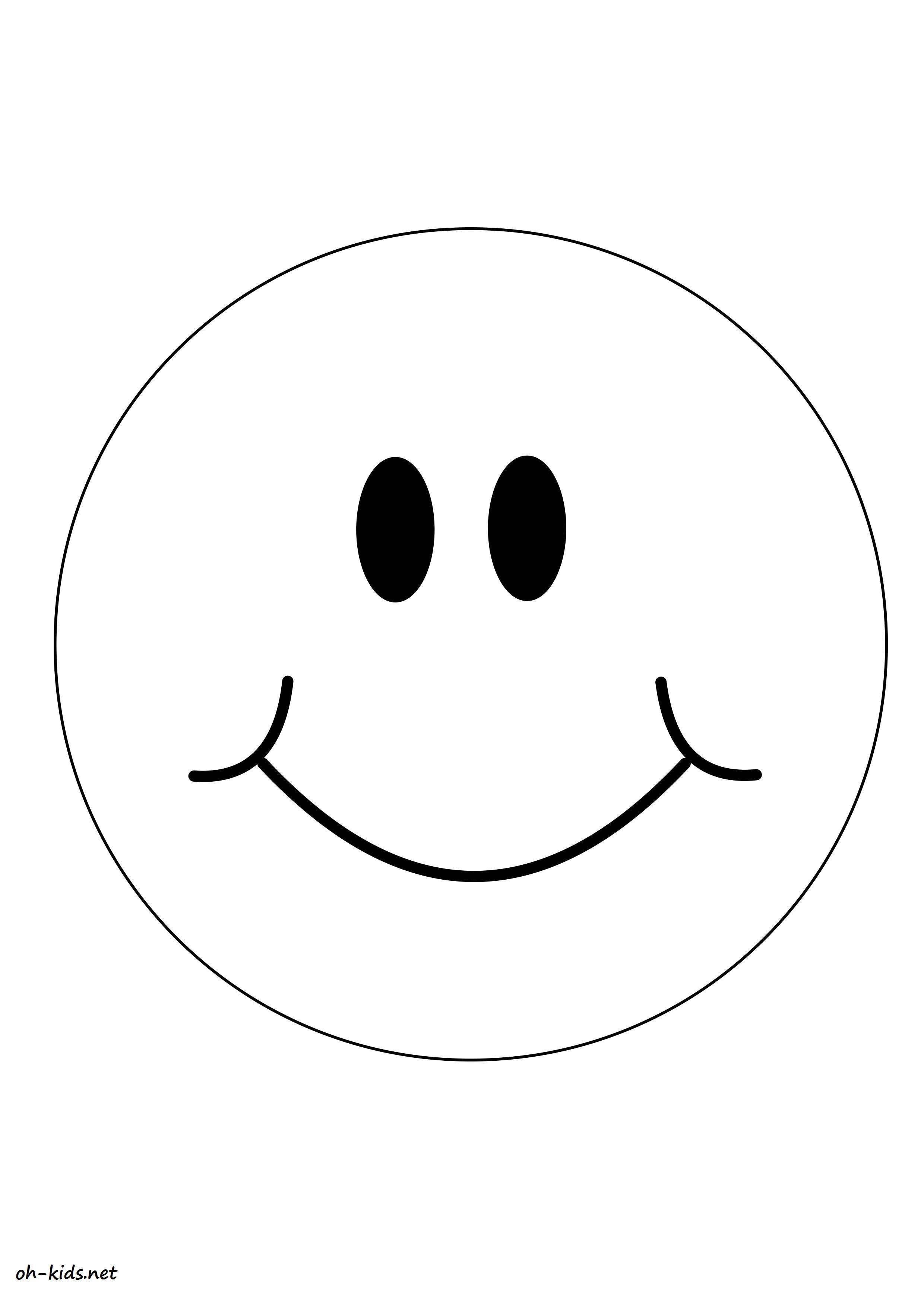 Dessin 754 Coloriage Smiley à Imprimer Oh Kidsnet