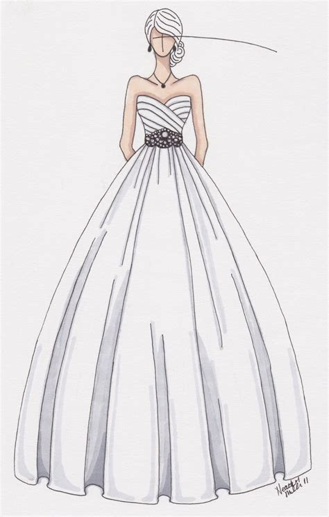 Custom wedding gown illustration   ???? There is a song in