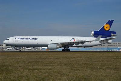 Lufthansa Cargo McDonnell Douglas MD-11F D-ALCC (msn 48783) (Aktion Deutschland Hilft) FRA (Bernhard Ross). Image: 913268.