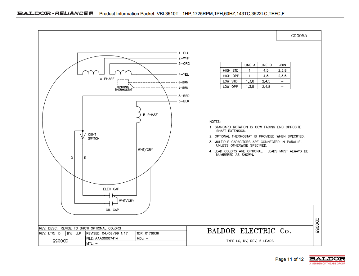 0782072 6 Lead 3 Phase Motor Wiring Diagram Wiring Library