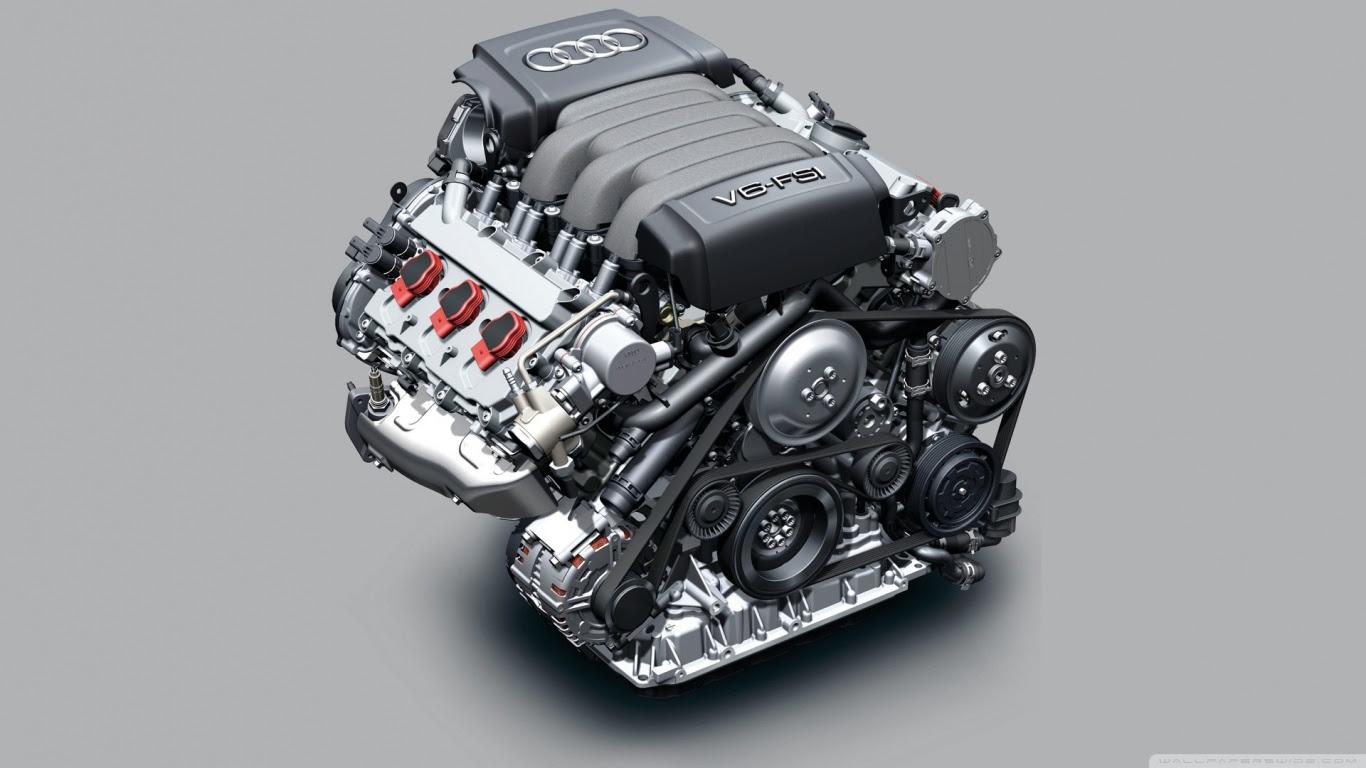 Audi V6 FSI Engine Ultra HD Desktop Background Wallpaper ...