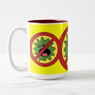 No Monsters Sign mug