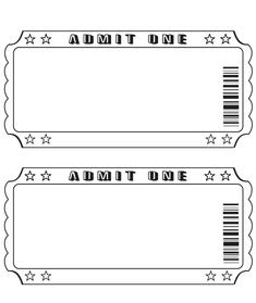 draw tickets template free