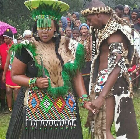 Bride and Groom In Zulu Traditional Wedding Attire #