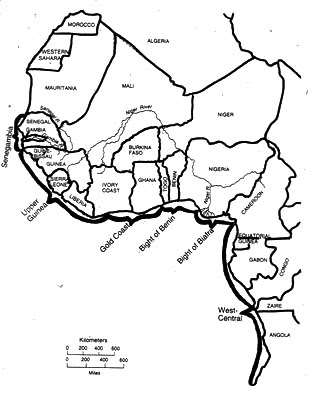 West Africa Blank Map | Africa Map