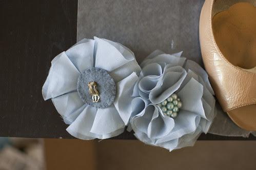 shoe clips, vintage earrings