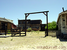 The OK Corral set at Mescal. Photo copyright 2003-2004 Mike Durrett, all rights reserved.