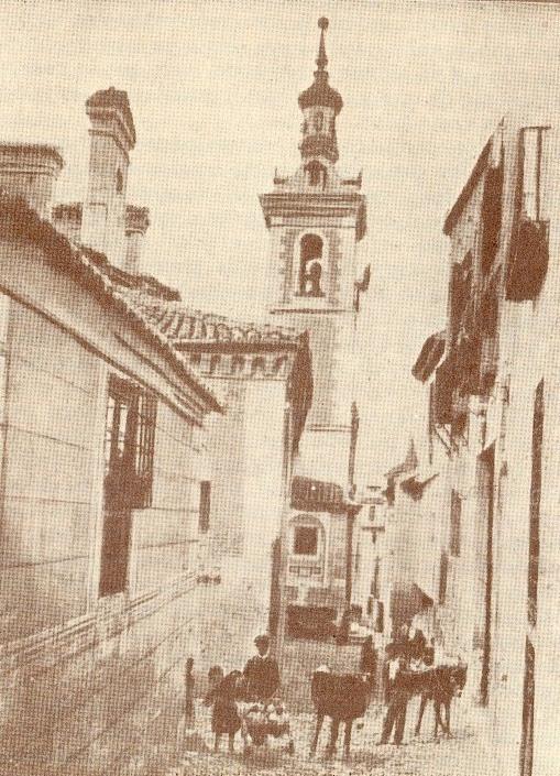 Iglesia de San Justo a principios del siglo XX