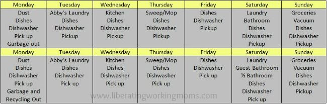 1000+ images about Cleaning Schedule on Pinterest   Cleaning ...