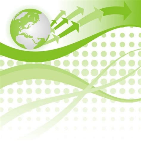 green globe arrows abstract vector background welovesolo