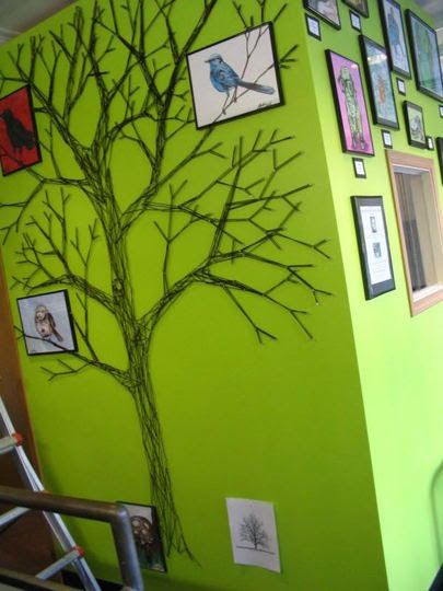 wherethewoollythingsare:  How To Make a String Tree Wall Mural Home Hacks | Apartment Therapy Re-Nest