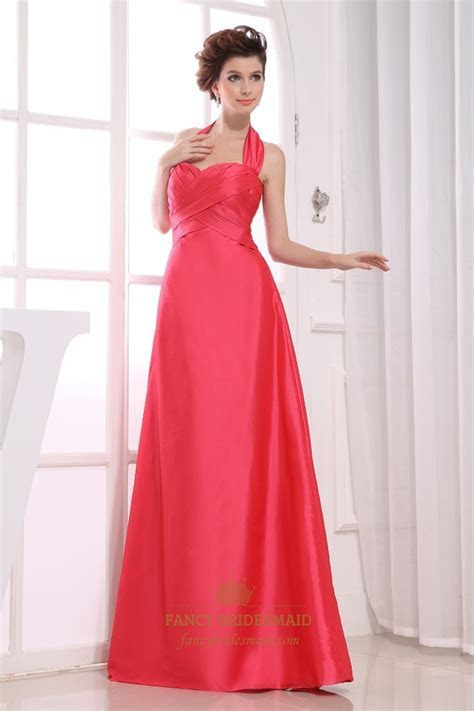 Long Halter Bridesmaid Dresses, Halter Empire Waist