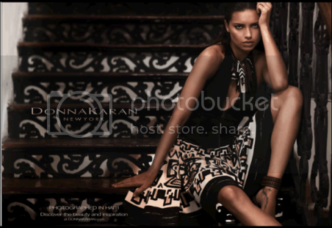 Adriana Lima in Donna Karans Spring Campaign