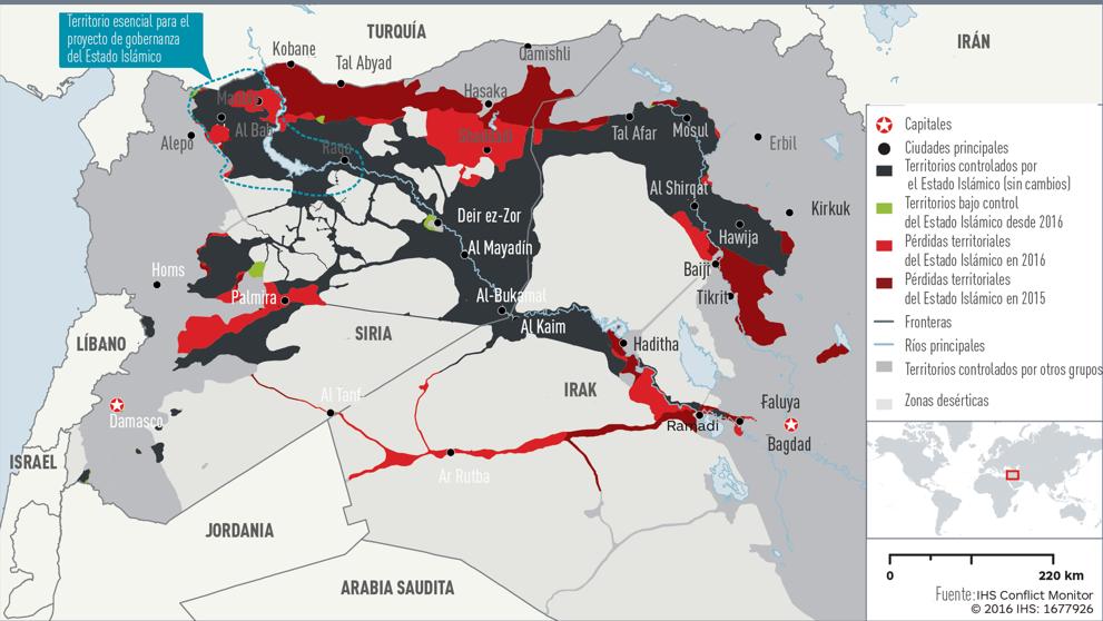 Resultado de imagen de territorio perdido por el isis en siria