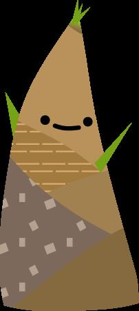 春のイラスト竹の子たけのこ筍 無料イラスト