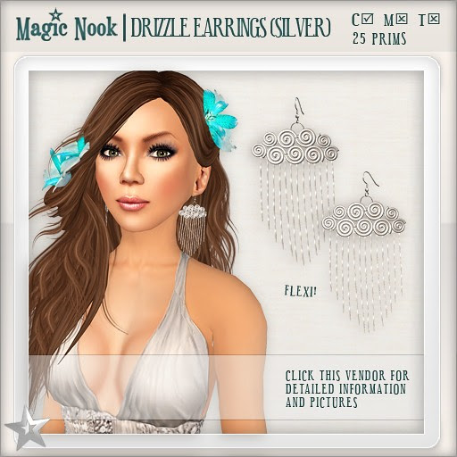[MAGIC NOOK] Drizzle Earrings (Silver)