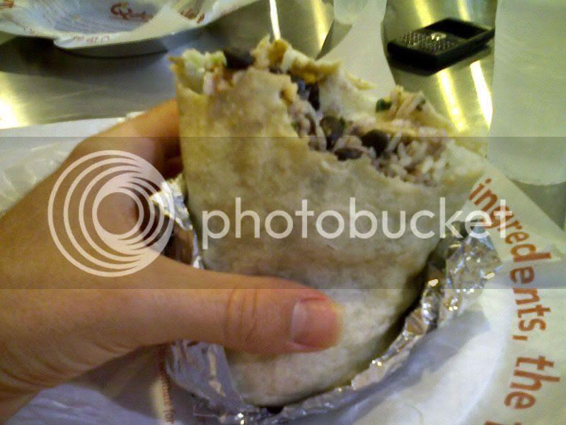 Qdoba Vegetarian Burrito