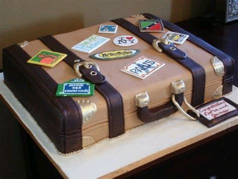 Suitcase   oh the places you'll go cake   Eat Cake