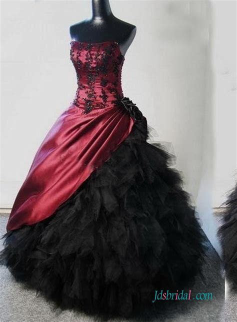 Red/Burgundy Colored wedding dresses,Cheap Plus size ball