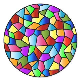Stained Glass Circle Sticker sticker