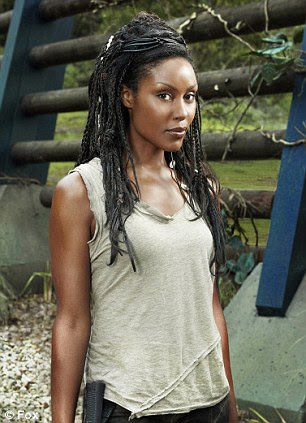 In charge: Mido Hamada as head of security Guzman and Christine Adams as Mira, the leader of a group opposed to Taylor